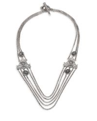 Konstantino | Metallic Penelope Sterling Silver Multi-row Station Necklace | Lyst