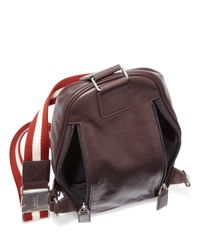 Bally - Brown Calf Leather Sling Backpack for Men - Lyst
