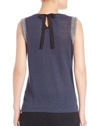 Generation Love Blue Lucy Crystal Embellished Tank