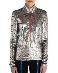 Emilio Pucci | Metallic Long Sleeve Top | Lyst