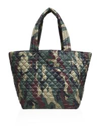 MZ Wallace   Green Oxford Medium Metro Camouflage Quilted Nylon Tote   Lyst