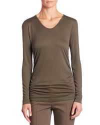 Akris Punto | Multicolor Ruched Side Jersey Top | Lyst