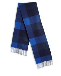 Paul Smith | Blue Fringed Cashmere Scarf for Men | Lyst