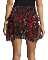 IRO - Black Dicie Tiered Ruffle Skirt - Lyst
