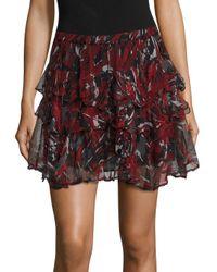 IRO | Black Dicie Tiered Ruffle Skirt | Lyst
