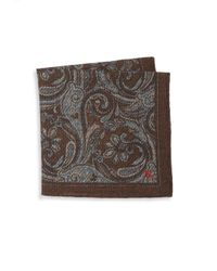 Isaia | Multicolor Paisley Silk Pocket Square for Men | Lyst