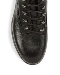 Giorgio Armani - Brown Crocodile Printed Leather Boots - Lyst