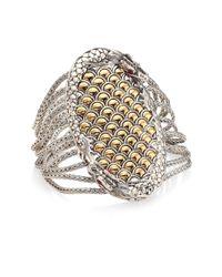 John Hardy | Metallic Legends Naga Ruby, 18k Yellow Gold & Sterling Silver Bracelet | Lyst