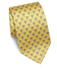 Ferragamo | Yellow Bear Silk Tie for Men | Lyst