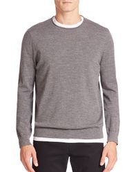 VINCE | Multicolor Heathered Wool & Cashmere Blend Sweater for Men | Lyst