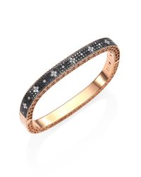 Roberto Coin | Metallic Princess Diamond & 18k Rose Gold Bangle | Lyst
