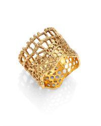 Aurelie Bidermann | Metallic 'vintage Lace' Ring | Lyst