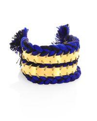 Aurelie Bidermann | Blue Copacabana Braided Cuff Bracelet | Lyst