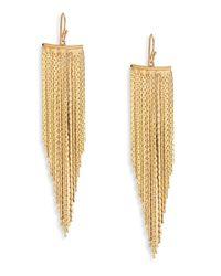 Kenneth Jay Lane | Metallic Fringe Wire Drop Earrings | Lyst