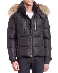 Sam. | Black Matte Quilted Puffer Jacket for Men | Lyst