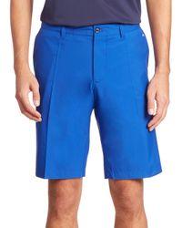 J.Lindeberg | Blue Regular-fit Flat Front Shorts for Men | Lyst