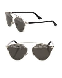 Dior | Black So Real 48mm Studded Pantos Sunglasses | Lyst