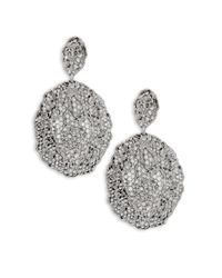Aurelie Bidermann | Metallic Vintage Lace Drop Earrings | Lyst