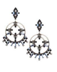 DANNIJO   Metallic Solaris Crystal Earrings   Lyst