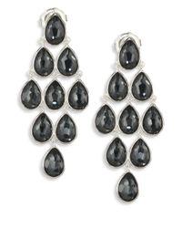 Ippolita | Metallic Rock Candy? Clear Quartz, Hematite & Sterling Silver Teardrop Cascade Earrings | Lyst