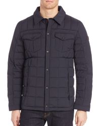 Tumi | Black Quilted Long Sleeve Jacket for Men | Lyst