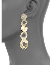 Ippolita - Metallic Sensotm Mixed Disc Diamond & 18k Yellow Gold Cascade Earrings - Lyst