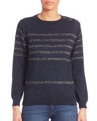 M.i.h Jeans   Blue Sophia Breton Striped Sweater   Lyst