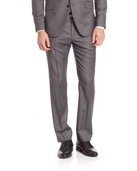 Theory | Gray Marlo Virgin Wool Pinstriped Trousers for Men | Lyst