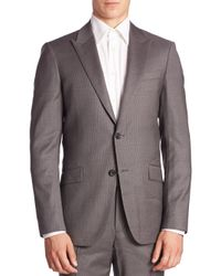 Theory | Gray Malcolm Slim-fit Pinstriped Suit Jacket for Men | Lyst