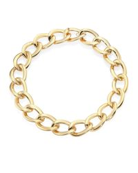 Roberto Coin   Metallic 18k Yellow Gold Chain Link Necklace   Lyst