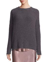 VINCE   Gray Ladder Stitch Cashmere Blend Sweater   Lyst