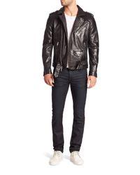 Joe's | Black Lamb Leather Jacket for Men | Lyst