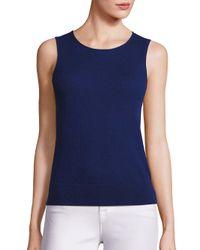 Saks Fifth Avenue | Blue Lightweight Cashmere Shell | Lyst