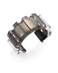 Alexis Bittar | Gray Corrugated Lucite Cuff Bracelet | Lyst