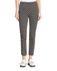 Akris Punto | Black Franca Dot-print Ankle Pants | Lyst