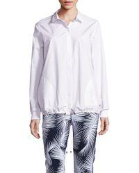 St. John | White Sport Collection Cotton Drawstring Jacket | Lyst
