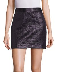 MILLY | Black Mod Metallic Jacquard Skirt | Lyst