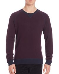 VINCE | Purple Birdseye Crewneck Sweater for Men | Lyst