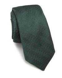 Ike Behar   Green Chevron Silk Tie for Men   Lyst