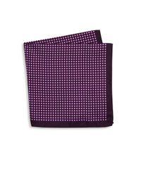 Ike Behar | Purple Geometric Silk Pocket Square for Men | Lyst