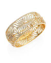Adriana Orsini | Metallic Barbara Pave Crystal Cuff Bracelet | Lyst