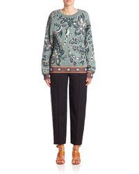 Chloé - Multicolor Floral Jacquard Sweater - Lyst