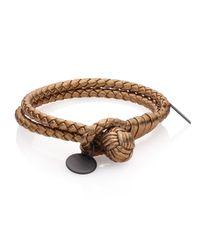 Bottega Veneta | Multicolor Intrecciato Metallic Leather Double-row Wrap Bracelet | Lyst