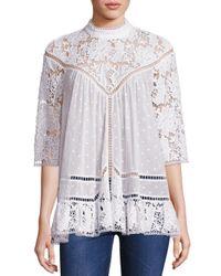 Zimmermann - White Caravan Crochet Lace Top - Lyst