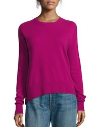 VINCE | Pink Boxy Cashmere Pullover | Lyst