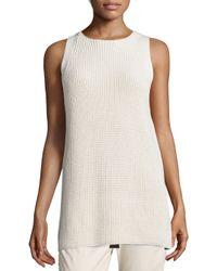 VINCE | White Cotton Waffle-knit Tunic | Lyst