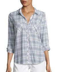 Joie | Blue Soft Sequioa Cotton Plaid Shirt | Lyst