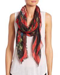 Alexander McQueen | Red Floral Tablecloth Silk & Modal Scarf | Lyst