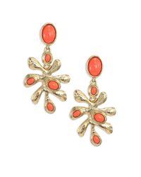 Oscar de la Renta | Metallic Sea Tangle Clip-on Earrings | Lyst