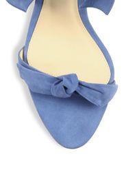 Alexandre Birman - Multicolor Clarita Suede Ankle-tie Sandals - Lyst